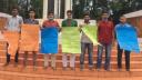 মেসভাড়া মওকুফের দাবিতে নোবিপ্রবিতে মানববন্ধন
