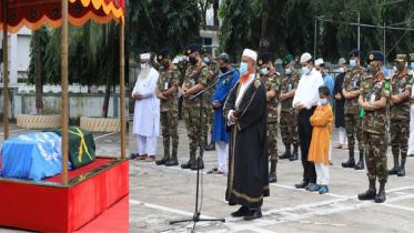 শহীদ বাংলাদেশি শান্তিরক্ষী সেনা কর্মকর্তার দাফন সম্পন্ন