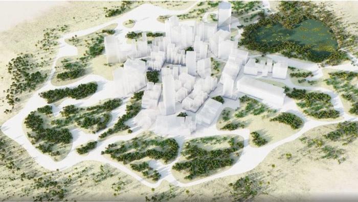 নিওম প্রকল্পের ওয়েবসাইটে শহরের একটি ধারণা তুলে ধরা হয়েছে