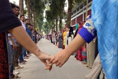 রাবির অপহৃত ছাত্রীর সন্ধানে আন্দোলনে শিক্ষার্থীরা